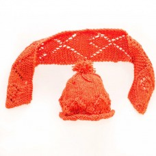 Knitted Baby Hat and Scarf Set