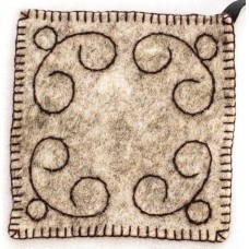 Felted Coaster/Pot Holder