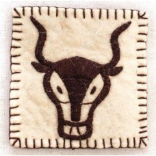 Felted Yak Coaster/Pot Holder
