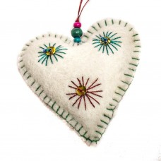 Felted Heart Ornament